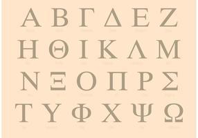 Set di alfabeto greco serif vettore