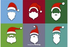 Icone di vettore piatto di Babbo Natale