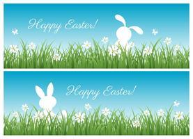 Banner vettoriali gratis di Pasqua