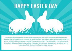 Carino illustrazione vettoriale di Pasqua