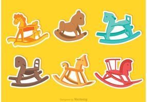 Vettori di cavallo a dondolo colorati