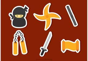 vettore di icone ninja