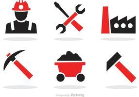 Vettore delle icone degli strumenti della costruzione