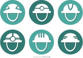 Vettore delle icone del cerchio del casco