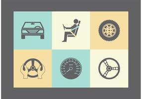 Icone vettoriali gratis parti auto