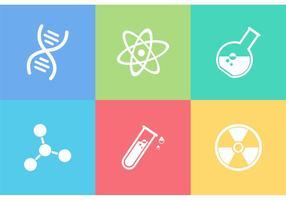 Icone di vettore di scienza