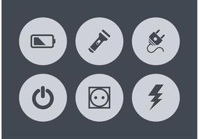 Icone vettoriali di potenza