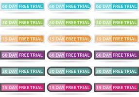 Vettori di pulsante di prova gratuiti