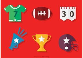 Vettore delle icone di football americano