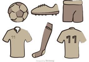 Vettori dell'attrezzatura di calcio