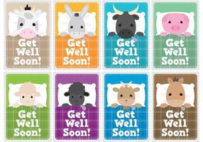 Guarisci presto i Vettori di carte per bambini