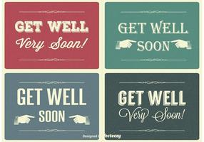 Vintage Get Well Soon Set di etichette