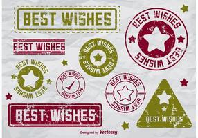 I migliori auguri Badge Vettori