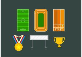 Icone vettori olimpici della concorrenza