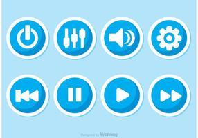 Vettori di pulsanti del lettore musicale