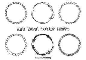 Set di frame scarabocchi disegnati a mano
