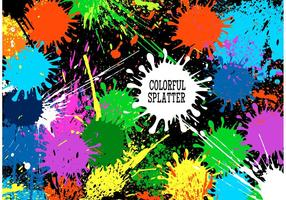 Vettore colorato sfondo Splatter colorato