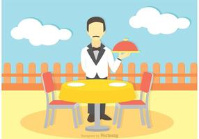 Illustrazione del vettore del cameriere