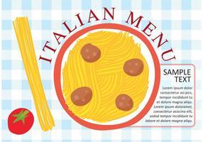 Vettore di piatto di pasta italiana
