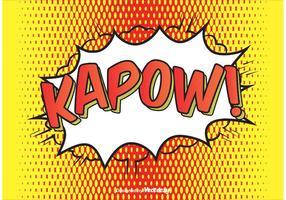Comic Style Kapow! Illustrazione di sfondo vettore