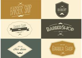 Etichette di barbiere vettoriali gratis
