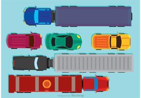 Vettore di vista aerea di veicoli