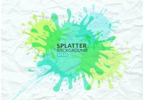 Splatter colorato vettoriale gratuito su carta spiegazzata