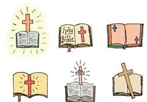 Apra la serie di vettore della bibbia aperta
