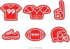 Vettori di icone di calcio