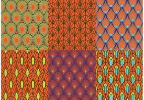 Vettori di pattern retrò pavone
