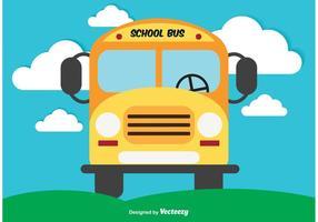 Illustrazione sveglia di vettore dello scuolabus