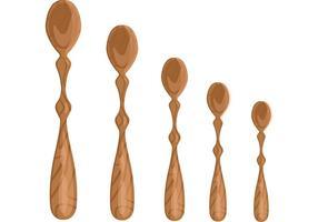 Vettori di cucchiaio di legno