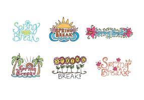 Serie di vettore di Spring Break gratuito