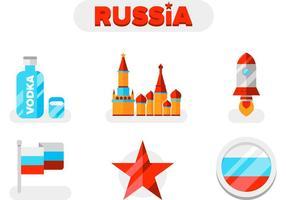pacchetto di icone di vettore di Russia