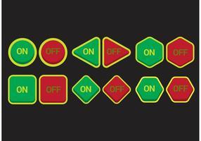 Pacchetto di icone Off On Button vettore
