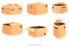 Icone di vettore di scatole di imballaggio