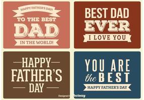 Etichette della Festa del papà vettore