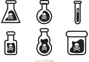 Icone vettoriali nero veleno