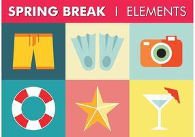 Spring Break Elements Vector gratuito