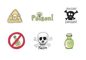 Free Vector serie di veleni
