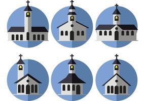 Vettori di Chiesa di campagna piatta
