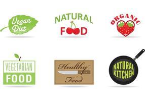 Dieta e loghi vettoriali di prodotti
