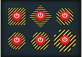 Attenzione sui vettori del pulsante Off