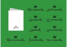 Nomi delle tessere Hallmark vettoriali gratis