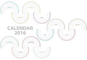 vettore onde calendario 2016