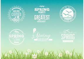 Set di design vettoriale tipografico primavera gratis