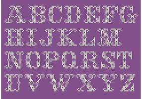 Insieme di vettore di alfabeto di punto croce