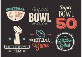 Set vettoriale Super Bowl