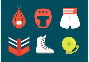 Simboli di vettore di boxe all'antica