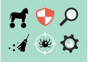 Pacchetto dell'icona di vettore di sicurezza informatica
